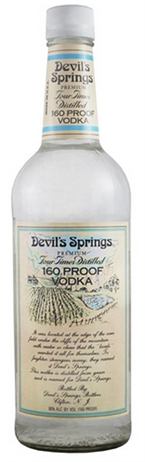Devil's Springs Vodka 151 Proof